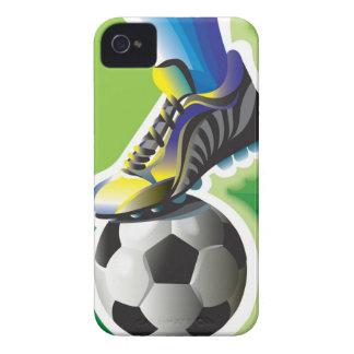 Amo el caso del iPhone 4 del fútbol Case-Mate iPhone 4 Carcasa