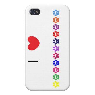 Amo el caso del iphone 4 del perro de los leonberg iPhone 4 funda