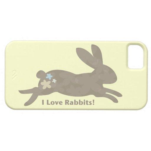 Amo el caso del iPhone 5 de los conejos iPhone 5 Case-Mate Fundas
