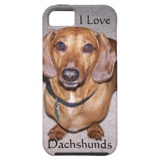 Amo el caso del iPhone 5 de los Dachshunds iPhone 5 Funda