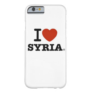 ¡Amo el caso del iPhone 6 de Siria - Barely There! Funda Para iPhone 6 Barely There