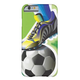 Amo el caso del iPhone 6 del fútbol Funda De iPhone 6 Barely There