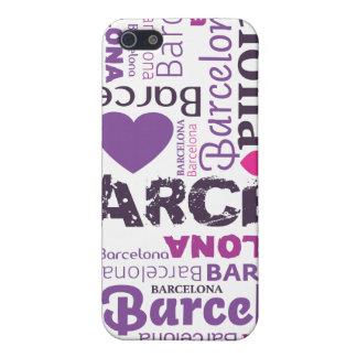 amo el caso del iphone de la tipografía de Barcelo iPhone 5 Carcasas