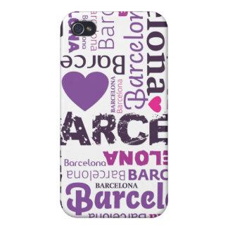 amo el caso del iphone de la tipografía de Barcelo iPhone 4/4S Funda