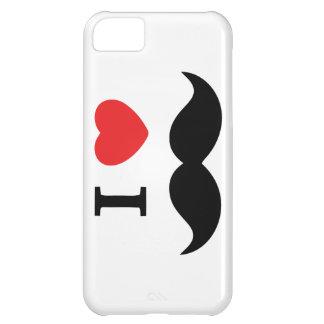 Amo el caso del iPhone del bigote Funda Para iPhone 5C