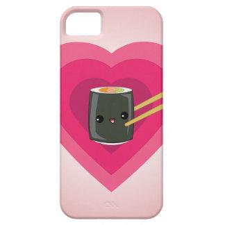 Amo el caso del iPhone del rollo de sushi de Kawai iPhone 5 Protector