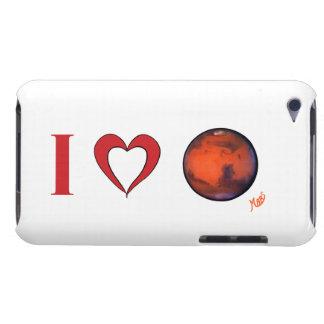 Amo el caso del tacto de Marte iPod Barely There iPod Cárcasa