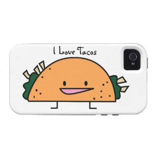 Amo el caso IPhone 4 de la célula del Tacos Vibe iPhone 4 Carcasa