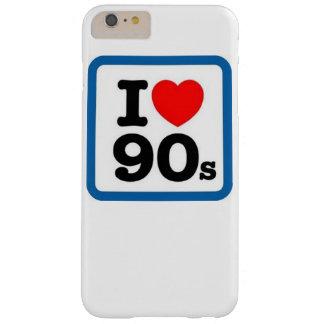 Amo el caso más del iPhone 6 de los años 80 Funda De iPhone 6 Plus Barely There