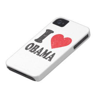 Amo el caso retro del iPhone de Obama Carcasa Para iPhone 4 De Case-Mate