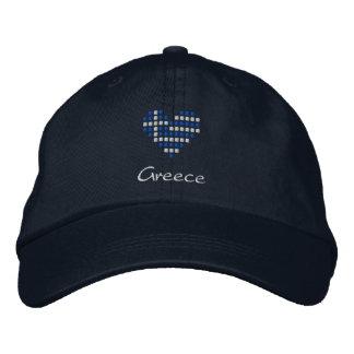 Amo el casquillo de Grecia - gorra griego de la ba Gorra De Béisbol