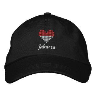 Amo el casquillo de Jakarta - gorra indonesio de l Gorras Bordadas