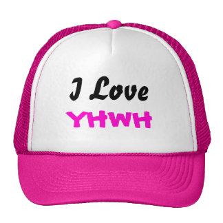 Amo el casquillo de las señoras de YHWH Gorros Bordados