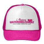 Amo el casquillo de Watermeloncat Gorras