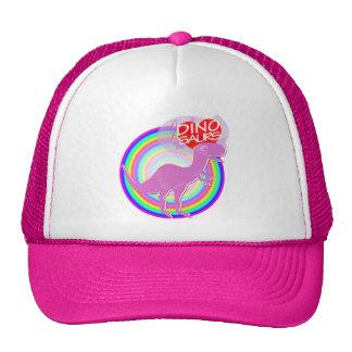 Amo el casquillo rosado del sombrero de Dino T-Rex Gorro