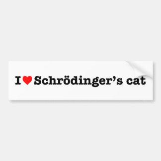 """""""AMO EL CAT DE SCHRODINGER """" PEGATINA PARA AUTO"""