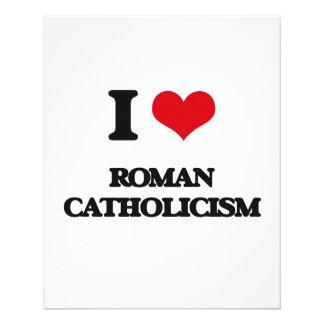 """Amo el catolicismo romano folleto 4.5"""" x 5.6"""""""