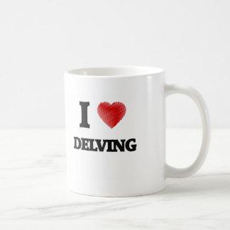 Amo el cavar taza
