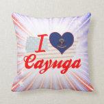 Amo el Cayuga, Dakota del Norte Cojin