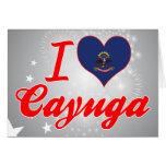 Amo el Cayuga, Dakota del Norte Felicitacion