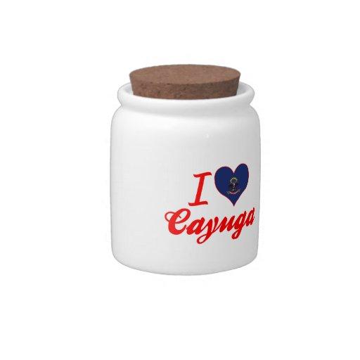 Amo el Cayuga, Dakota del Norte Jarra Para Caramelo