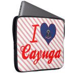 Amo el Cayuga, Dakota del Norte Fundas Portátiles