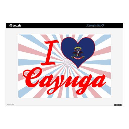 Amo el Cayuga, Dakota del Norte Skins Para 38,1cm Portátil