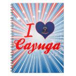 Amo el Cayuga, Dakota del Norte Libros De Apuntes