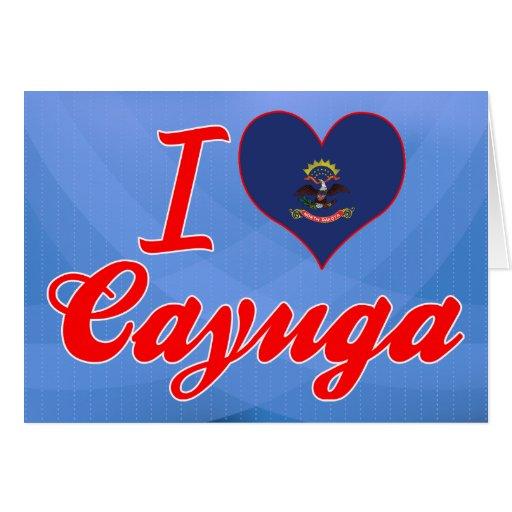 Amo el Cayuga, Dakota del Norte Tarjeta De Felicitación