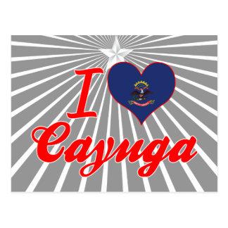 Amo el Cayuga, Dakota del Norte Tarjeta Postal