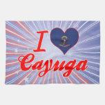 Amo el Cayuga, Dakota del Norte Toallas De Cocina