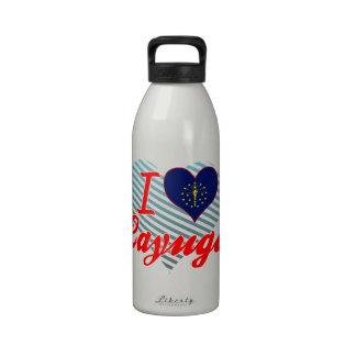 Amo el Cayuga Indiana Botellas De Agua Reutilizables