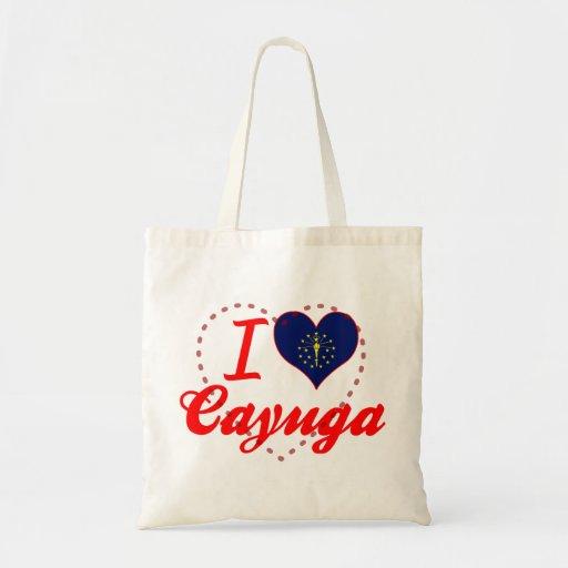 Amo el Cayuga, Indiana Bolsa Tela Barata