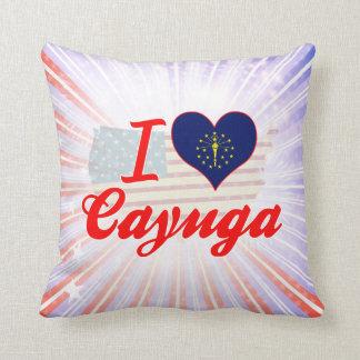 Amo el Cayuga Indiana Cojin