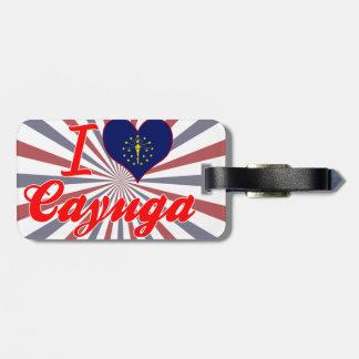 Amo el Cayuga Indiana Etiqueta De Equipaje