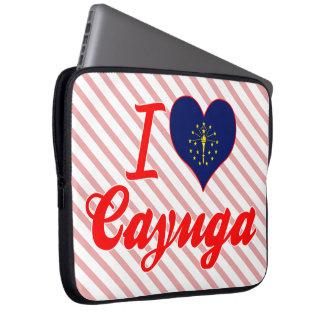 Amo el Cayuga Indiana Funda Computadora