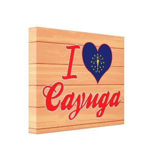 Amo el Cayuga Indiana Impresión De Lienzo