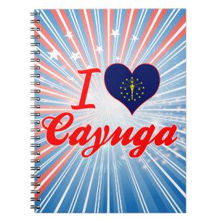 Amo el Cayuga Indiana Libreta