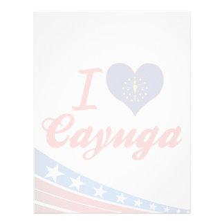 Amo el Cayuga Indiana Membrete A Diseño