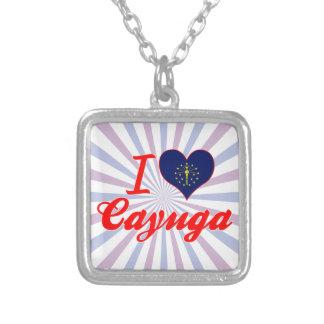 Amo el Cayuga Indiana Pendientes Personalizados
