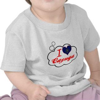 Amo el Cayuga, Indiana Camiseta