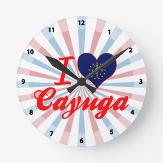 Amo el Cayuga Indiana Relojes De Pared