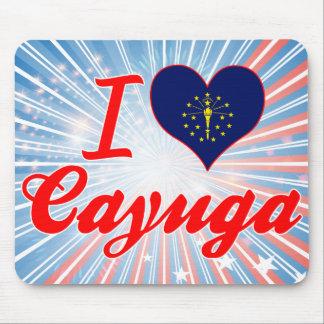 Amo el Cayuga, Indiana Alfombrillas De Ratón