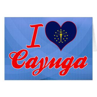 Amo el Cayuga, Indiana Felicitaciones