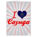 Amo el Cayuga, Indiana Tarjeta