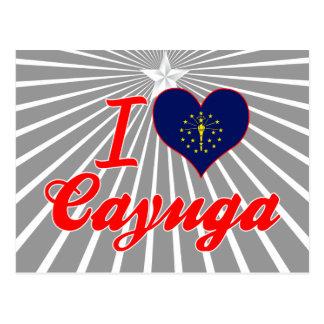 Amo el Cayuga, Indiana Postales