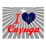 Amo el Cayuga, Indiana Tarjetas Postales