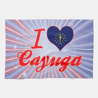 Amo el Cayuga Indiana Toallas