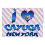 Amo el Cayuga, Nueva York Felicitación