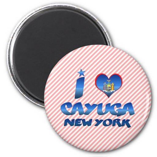 Amo el Cayuga, Nueva York Iman De Nevera